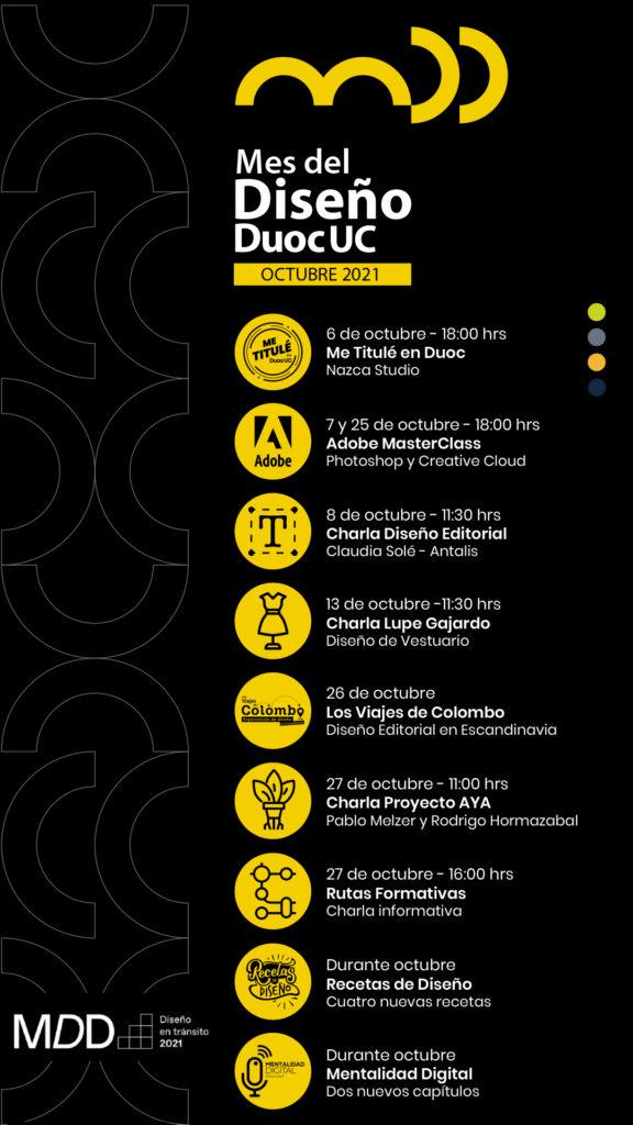 cartelera Mes del Diseño 2021